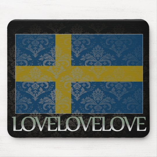 I love Sweden Cool Mouse Pad