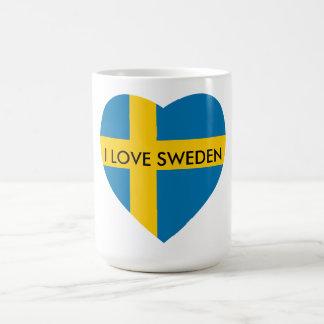 I LOVE SWEDEN HEART COFFEE MUG