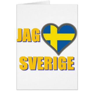 I Love Sweden (Jag Älskar Sverige) Greeting Card