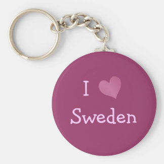 I Love Sweden Key Ring