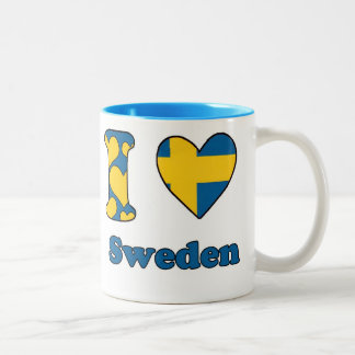 I love Sweden Two-Tone Mug