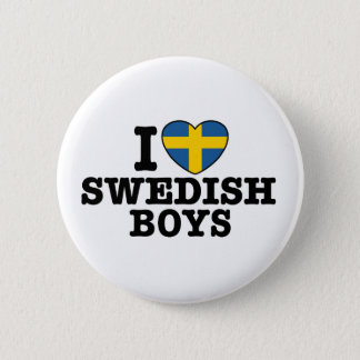 I Love Swedish Boys 6 Cm Round Badge