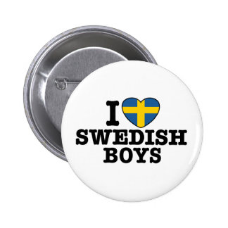 I Love Swedish Boys 6 Cm Round Badge