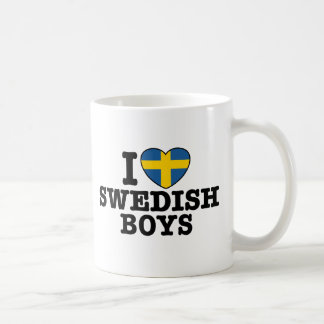 I Love Swedish Boys Basic White Mug