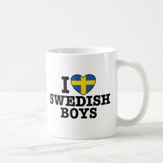 I Love Swedish Boys Basic White Mug