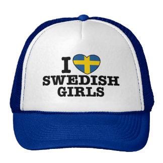 I Love Swedish Girls Cap