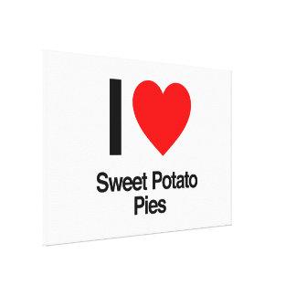 i love sweet potato pies canvas print