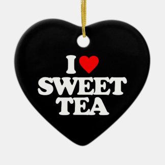 I LOVE SWEET TEA CERAMIC HEART DECORATION