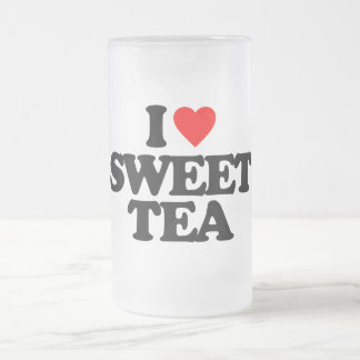 I LOVE SWEET TEA FROSTED GLASS MUG