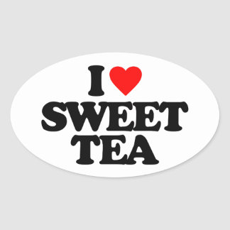 I LOVE SWEET TEA OVAL STICKER