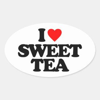 I LOVE SWEET TEA OVAL STICKER