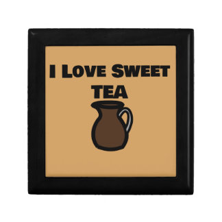 I Love Sweet Tea Tile Small Square Gift Box