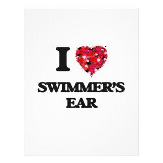 I love Swimmer'S Ear 21.5 Cm X 28 Cm Flyer