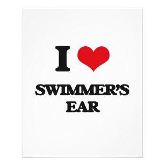 I love Swimmer'S Ear 11.5 Cm X 14 Cm Flyer