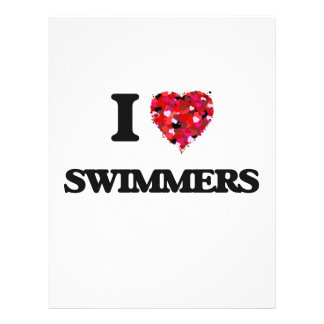 """I love Swimmers 8.5"""" X 11"""" Flyer"""