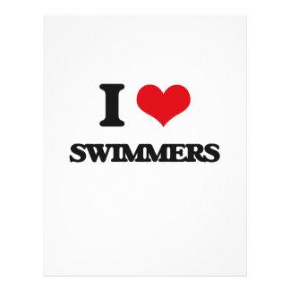I love Swimmers 21.5 Cm X 28 Cm Flyer