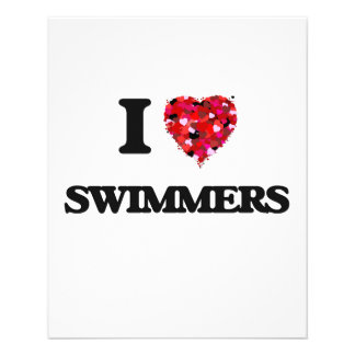 """I love Swimmers 4.5"""" X 5.6"""" Flyer"""