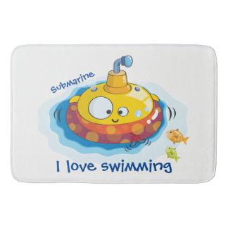 I love swimming bath mat