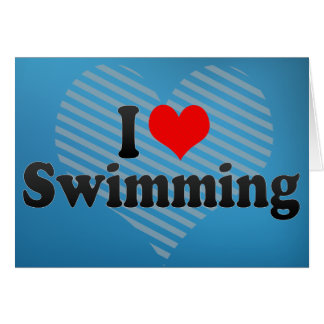 I Love Swimming Cards
