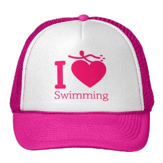 I Love Swimming Hat