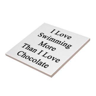 I Love Swimming More Than I Love Chocolate Tiles