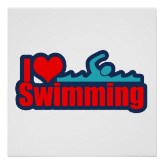 I Love Swimming Poster
