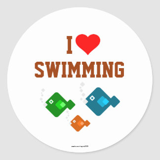 I LOVE SWIMMING with the fishes Sticker