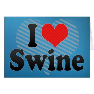 I Love Swine Cards
