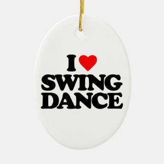 I LOVE SWING DANCE CHRISTMAS ORNAMENT
