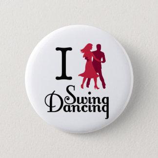 I Love Swing Dancing 6 Cm Round Badge