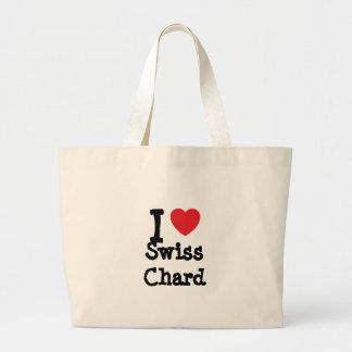 I love Swiss Chard heart T-Shirt Jumbo Tote Bag