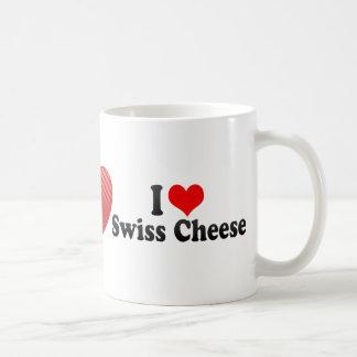 I Love Swiss Cheese Coffee Mugs