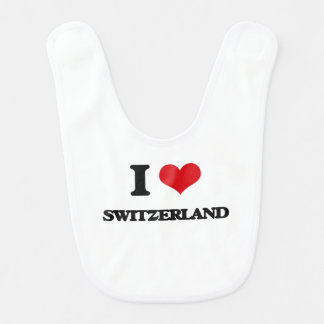 I Love Switzerland Baby Bibs
