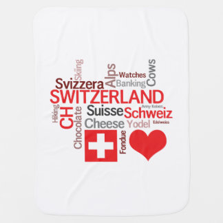 I Love Switzerland - Favorite Swiss Things Baby Blankets