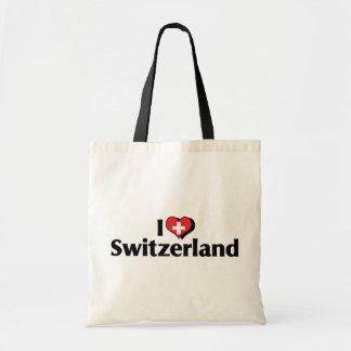 I Love Switzerland Flag Tote Bag