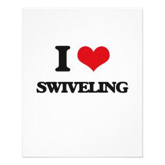 I love Swiveling 11.5 Cm X 14 Cm Flyer