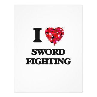 I love Sword Fighting 21.5 Cm X 28 Cm Flyer