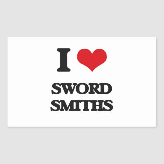 I love Sword Smiths Rectangle Stickers