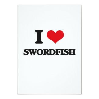 "I love Swordfish 5"" X 7"" Invitation Card"
