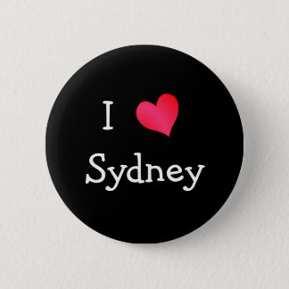 I Love Sydney 6 Cm Round Badge