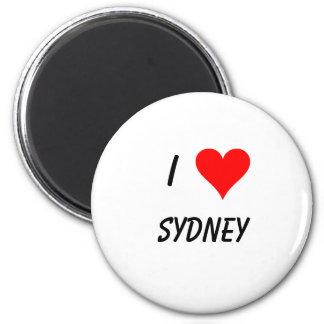 I love sydney 6 cm round magnet