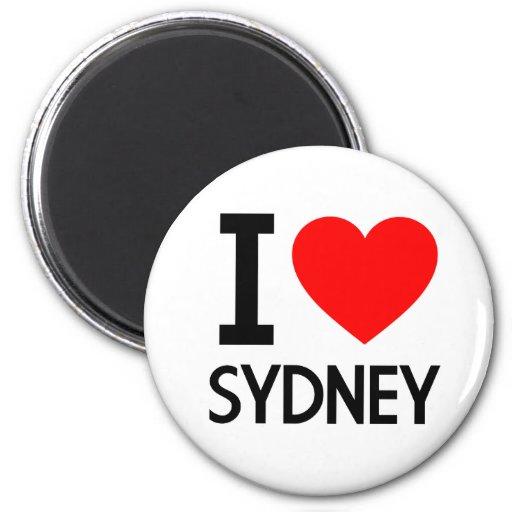 I Love Sydney Refrigerator Magnets