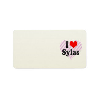 I love Sylas Address Label