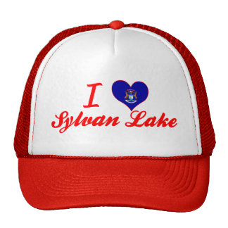 I Love Sylvan Lake, Michigan Mesh Hats