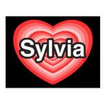 I love Sylvia. I love you Sylvia. Heart Postcard