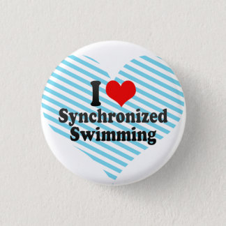 I love Synchronized Swimming 3 Cm Round Badge