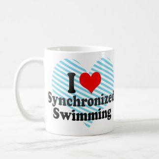 I love Synchronized Swimming Basic White Mug