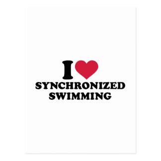 I love Synchronized swimming Postcard