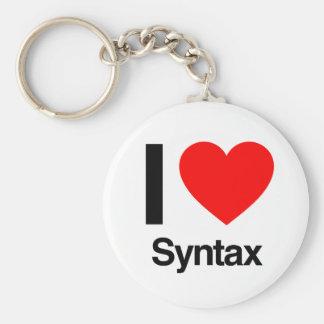 i love syntax key chain