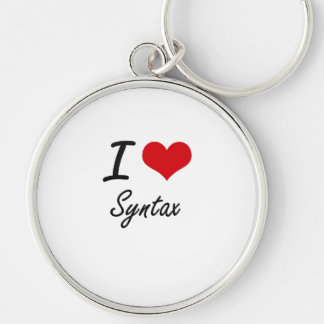 I love Syntax Silver-Colored Round Key Ring